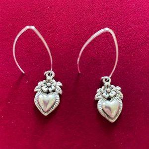 Hearts and Flowers Charm Earrings, NWT